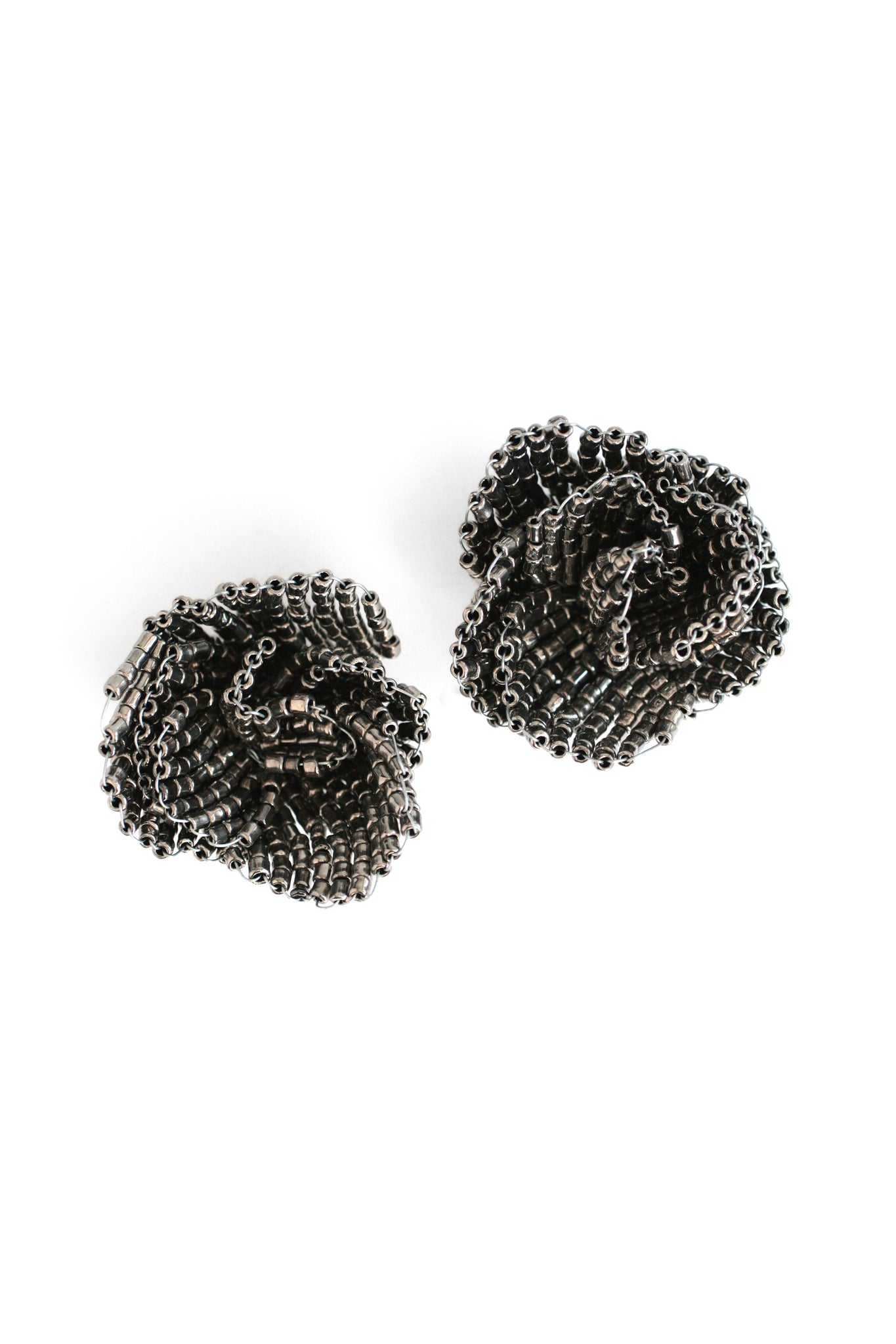 Festive Floral Earrings - Black