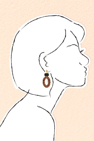 Velvet Drop Earrings - Brown