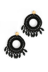 Catcher Of Dreams Drop Earrings - Black