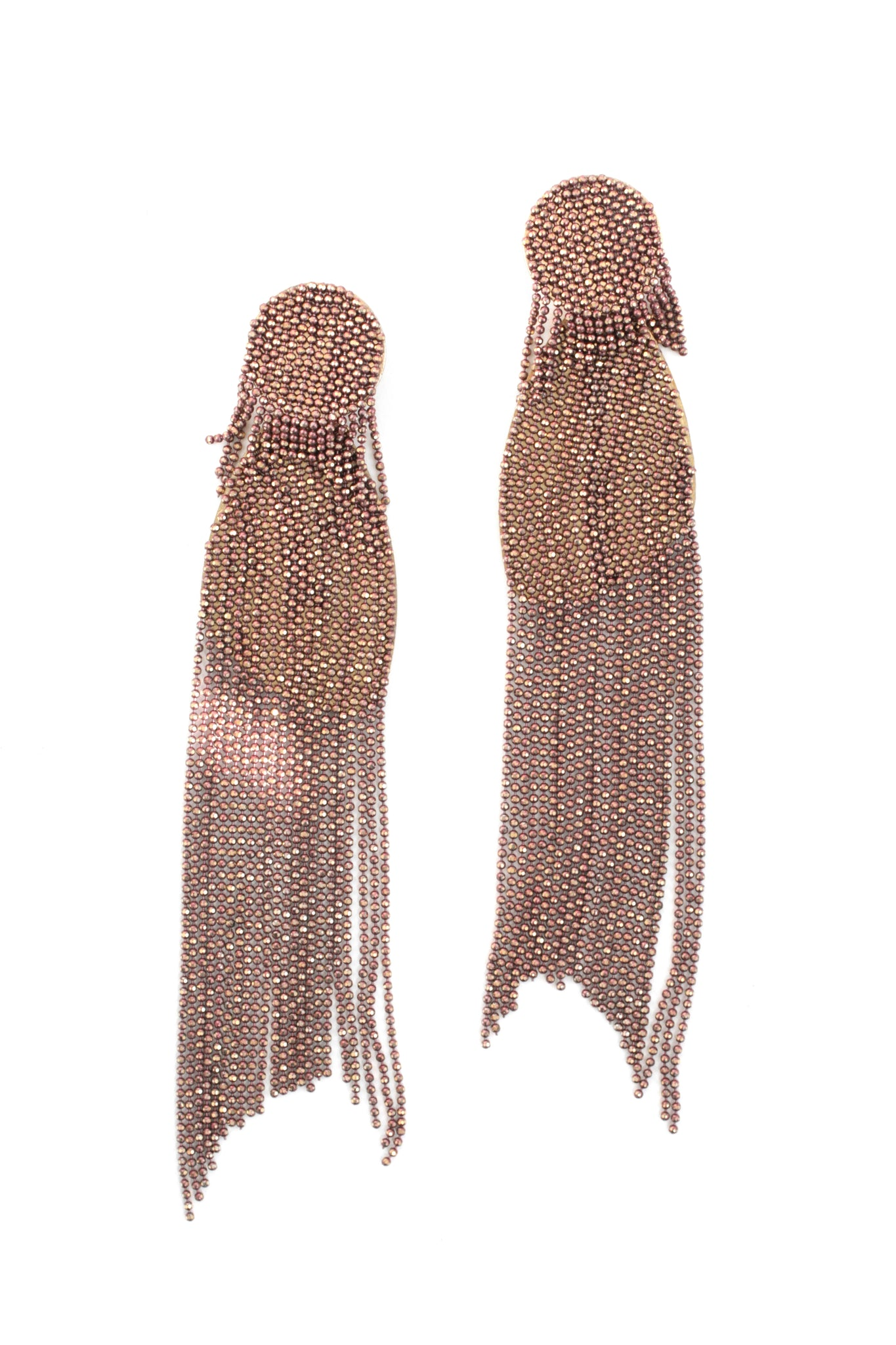 Enamel Tassel Drop Earrings - Lilac