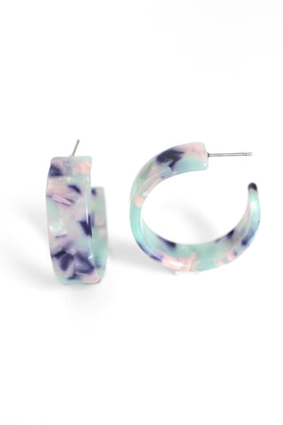 Resin Hoops - Mint