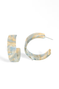 Resin Hoops - Yellow