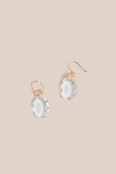 Mini Drop Earrings - Clear