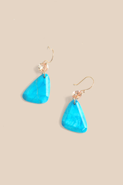 Mini Drop Earrings - Turquoise