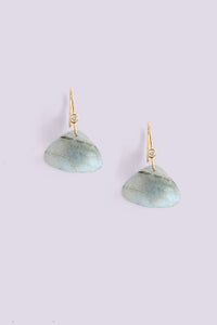 Triangular Drop Earring - Labradorite