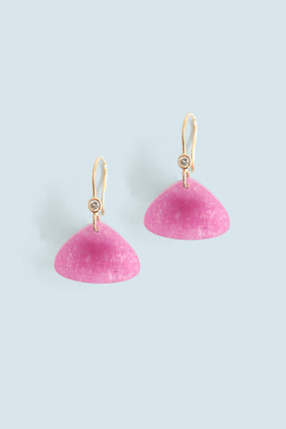 Triangular Drop Earring - Pink