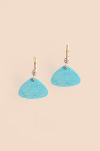 Triangular Drop Earring - Turquoise