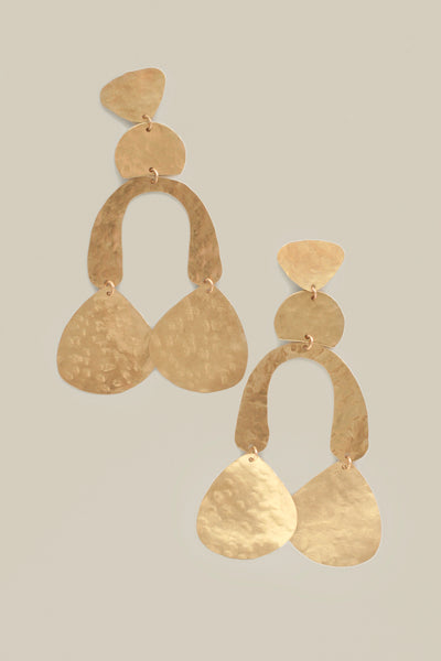 Statement Geometric Mobile Earrings - Gold