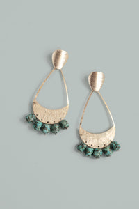 Stone Chandelier Earrings - Turquoise