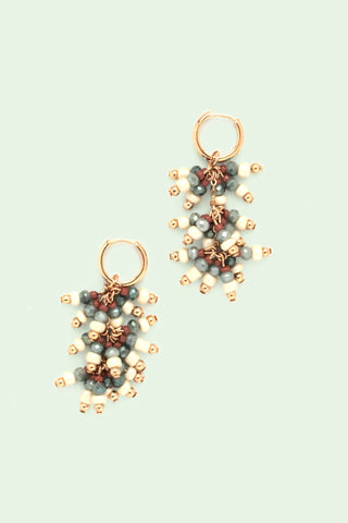 Beaded Drop Earrings - Ivory