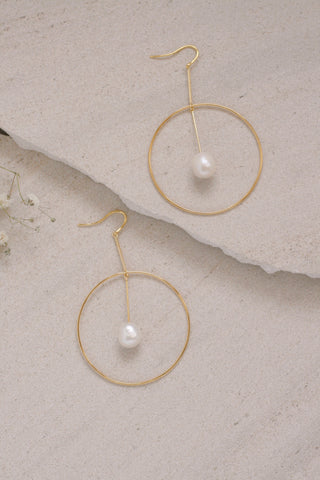 Orbit Pearl Hoops