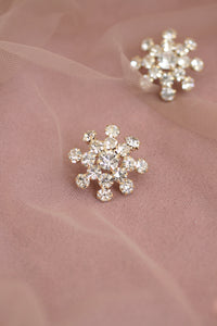 Rhinestone Sparkly Oversized Special Occassion Stud Earrings
