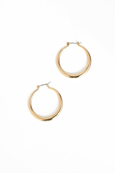 Everyday Hoop Earrings - Gold