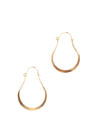 Elongated Hoops - Gold