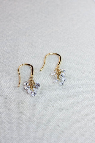 Clear Sparkle Clusters Earrings