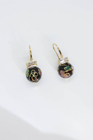 Cloisonne Drop Earrings