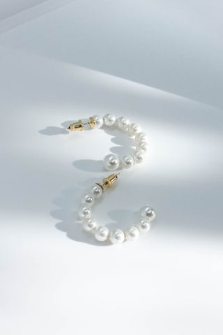 Audrey Pearl Hoops - Small