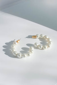 Audrey Pearl Hoops - Large