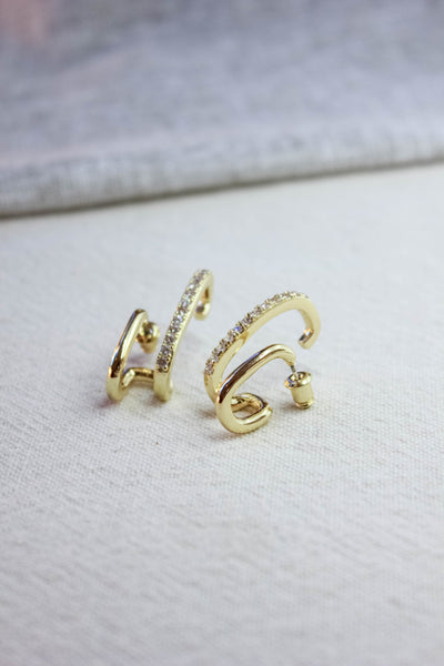 Pave Crawler Ear Cuff Earrings