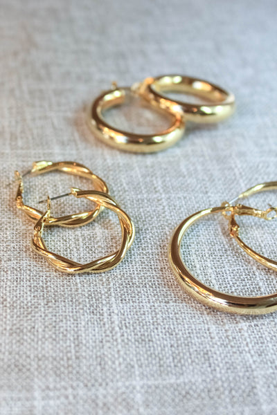Everyday Gold Hoops - Set of 3