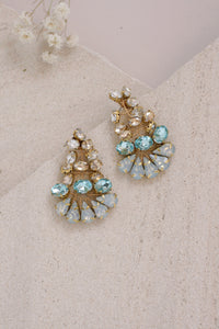 Beatrice Chandelier Earrings Wire-Wrapped