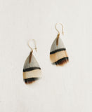 Mini Chain Feather Earrings