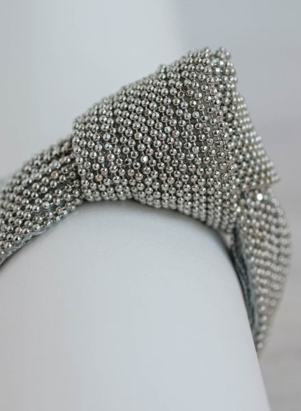 Silver Beaded Chain Knot Bracelet