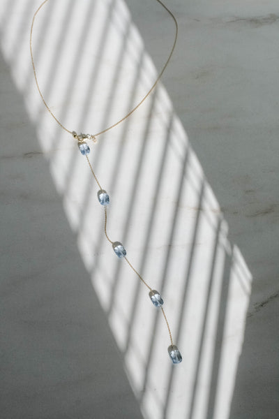 Faceted Back Necklace