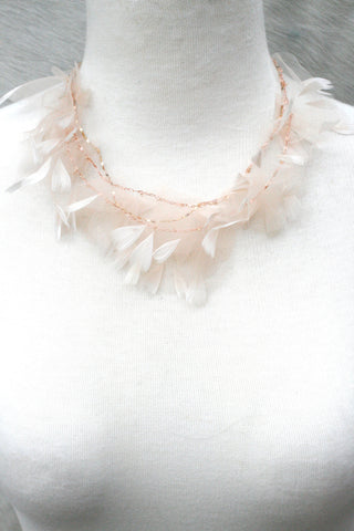 Ballerina Tulle Feather Necklace