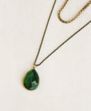 Long Chain Vintage Glass Necklace