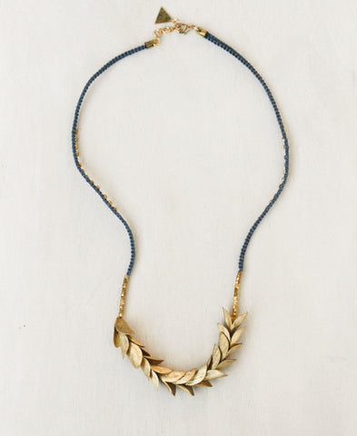 Olive Leaves Layering Necklace