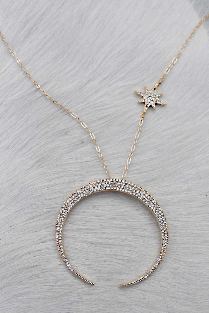 delicate star il moon and gold necklace listing crescent qhpx