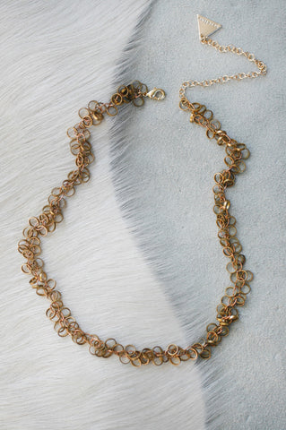Circle Brass Chain Choker