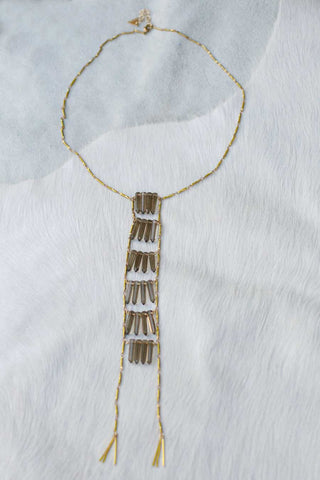 Raw Quartz Ladder Necklace