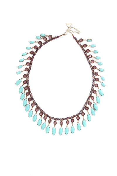 Fluid Drop Collar - Turquoise