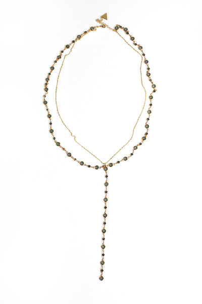 Double Y Necklace - Smokey