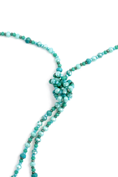 Single Strand Adjustable Necklace - Turquoise