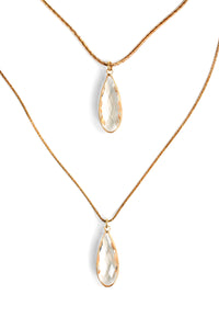 Double Teardrop Necklace - Clear