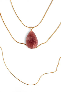 Multilayer Quartz Necklace - Rose