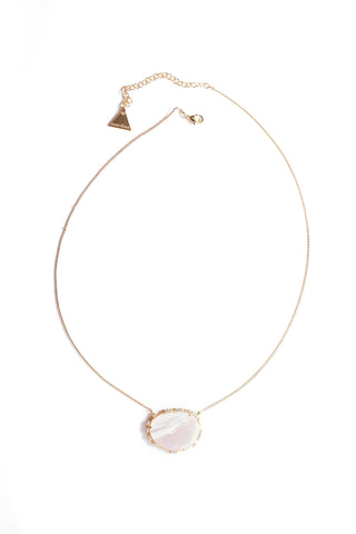 Mother Of Pearl Framework Single Necklace