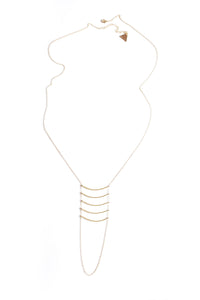 Golden Ladder Necklace - Gold