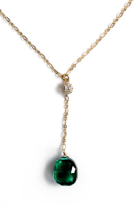 Summer Sultry Glassy Necklace - Green