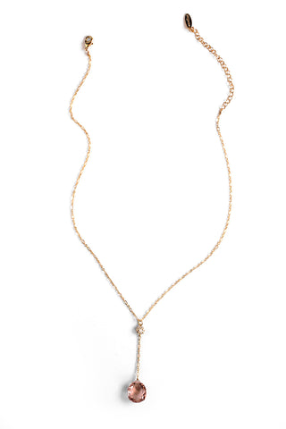 Summer Sultry Glassy Necklace - Rose