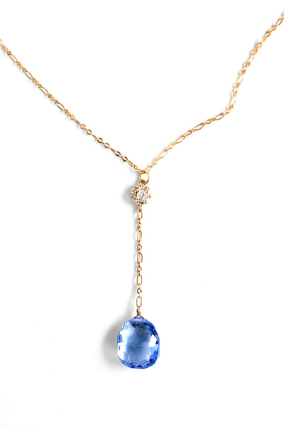 Summer Sultry Glassy Necklace - Sky