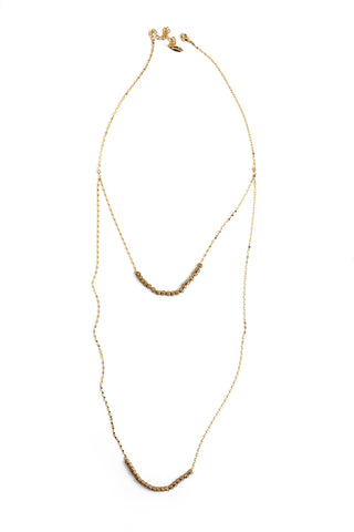 Summer Sultry Double Necklace - Gold