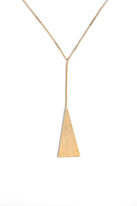 Summer Sultry Triangle Necklace- Gold