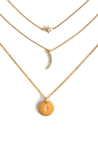 Celestial Necklace Set - Gold