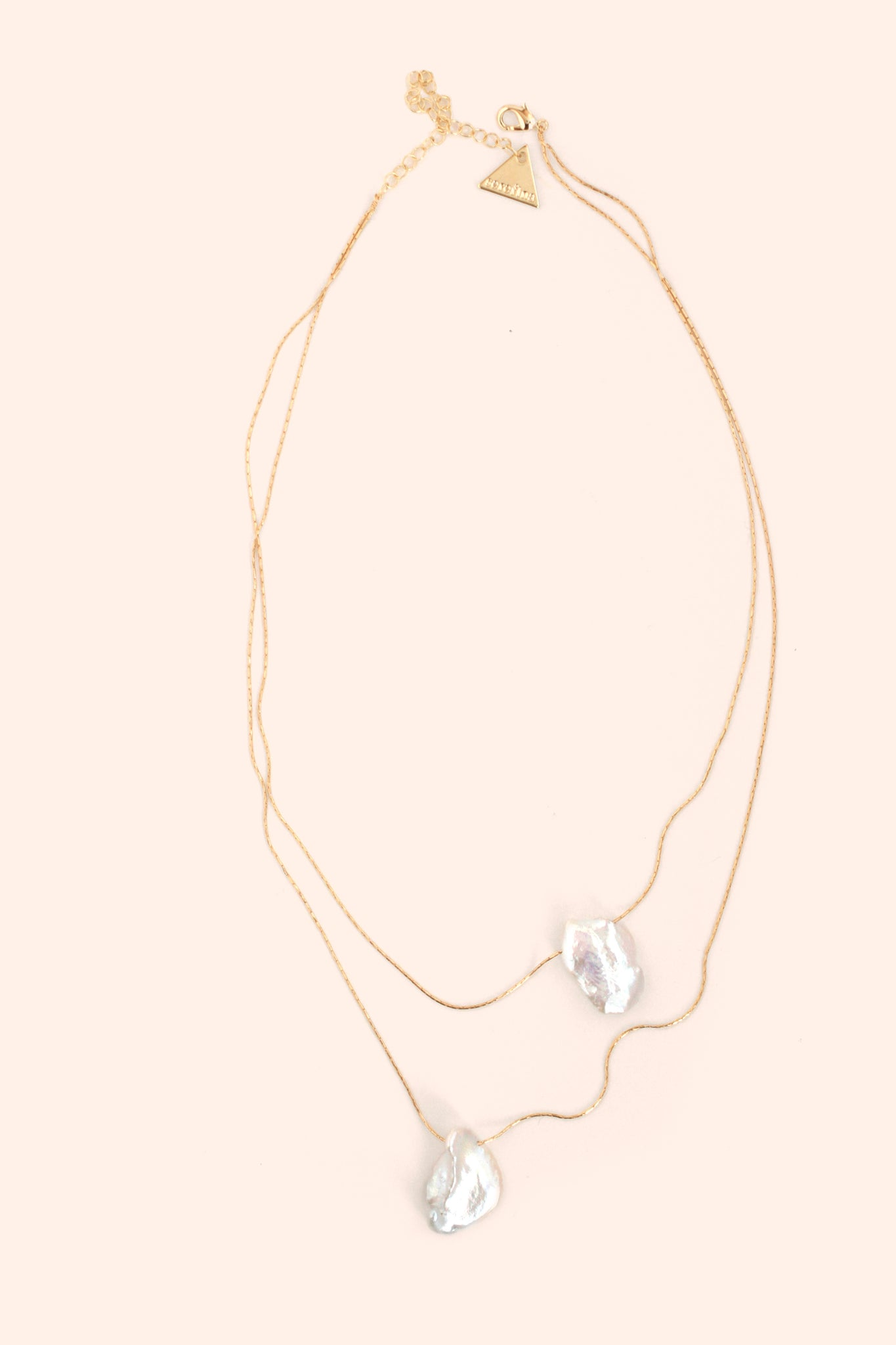 Double Layer Stone Necklace - Pearl
