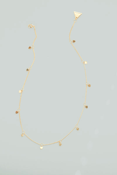Heart Scatter Necklace - Gold