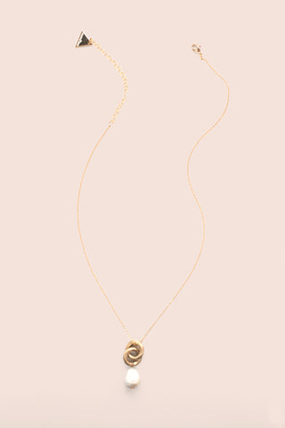 Link Pearl Drop Necklace - Pearl